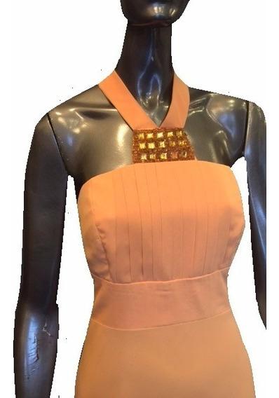 Elegante - Vestido Crepe Forrado Media Pierna