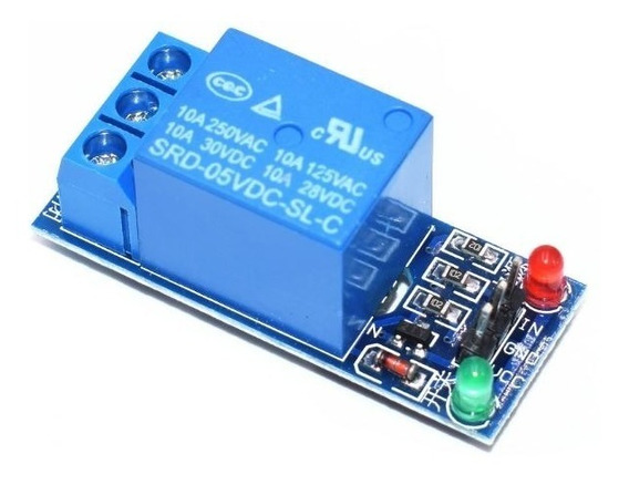 Módulo Relé 1 Canal 5v Interface Para Arduino Raspberry