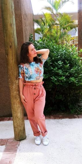 Calça Feminina Modelo Tipo Clochard Soltinha Primaveraverão