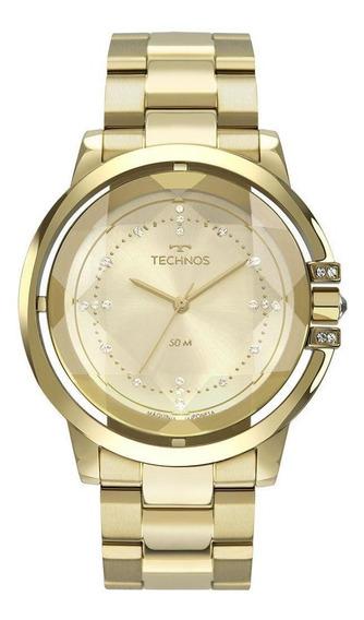 Relógio Technos Feminino Crystal Dourado 2036mll4x