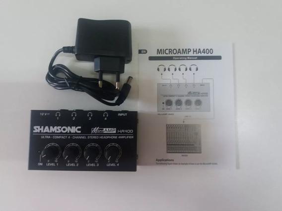 Amplificador Fones De Ouvido Ha400 Shamsonic Igual Bheringe