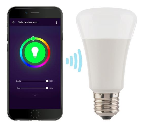 Foco Led Rgb Controlado Por Wi-fi, Luz Fría 7w | Shome-120