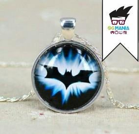 Colar Batman Banhado A Prata