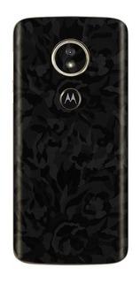 Skin Adesivo 3m Pelicula Traseira Black Camo Moto G7 Play