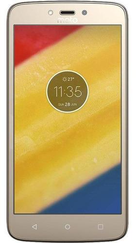 Celular Motorola Moto C Plus 8gb Ouro Usado Muito Bom