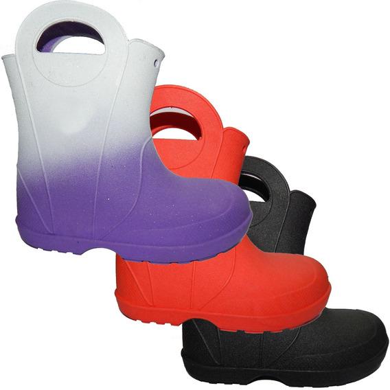 Bota Impermeables De Niños Para Lluvia / Nieve Jeans710