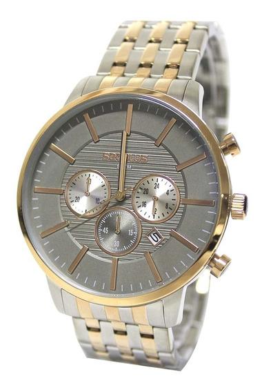 Relógio Masculino Seculus 20759gpsvga2- Prata/dourado