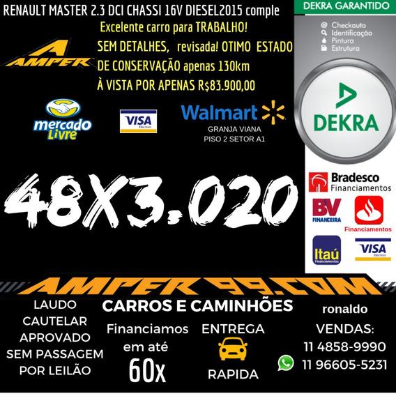 Renault Master 2.3 Dci Chassi 16v Diesel Completa 2015