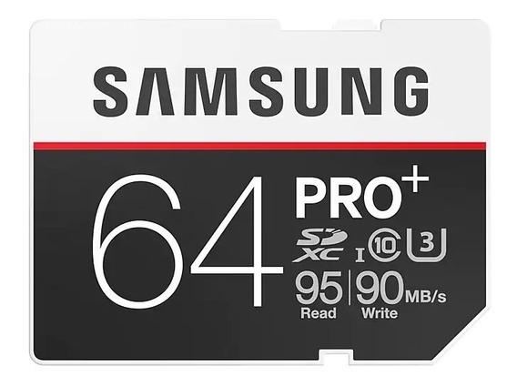 Samsung Micro Sd Xc Pro Plus+ Class10 95mb/s 64gb 4k