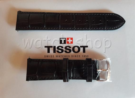 Pulseira De Couro Tissot T116617 22mm Marrom Original