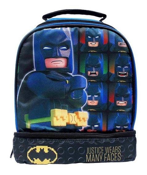 Lonchera Lego Para Niño Batman Return Doble Compartimento