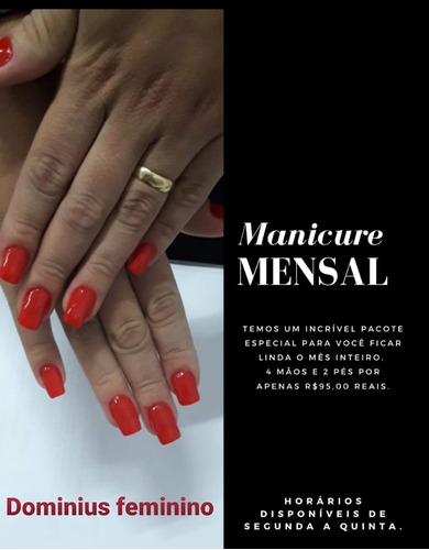Salão De Beleza Feminino- Manicure; Maquiadora; Cabeleireira