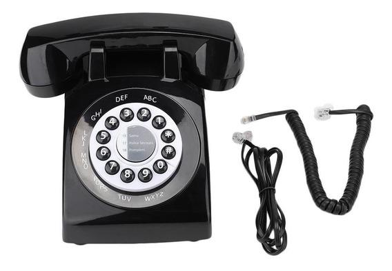 Teléfono Fijo Estilo Retro Vintage Antiguo De Moda Teléfono