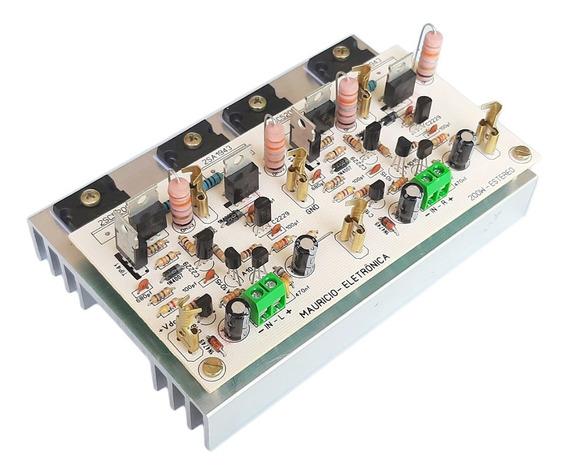 Placa Montada Amplificador 200w Rms Estereo E Com Dissipador