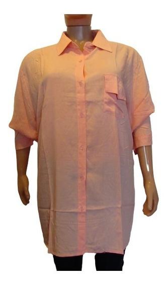 Camisa Fribrana Mujer Talle Grande 4xl Varios Colores