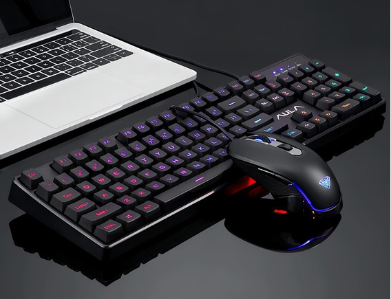 Kit Gamer Profissional Rgb Teclado Mouse Aula T100 Original!