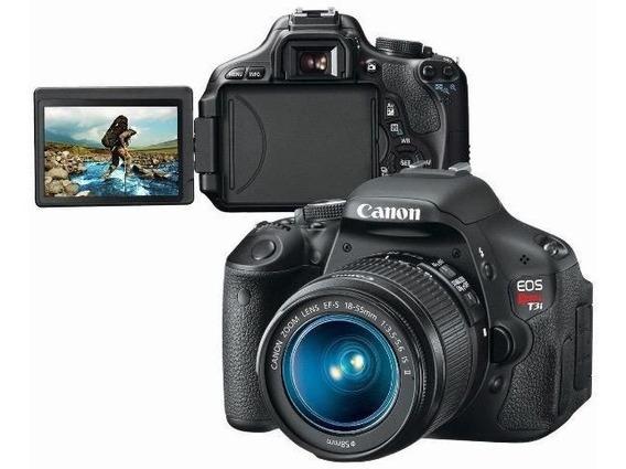Câmera Canon T3i Completa Com 2 Baterias + Cartão De Memoria