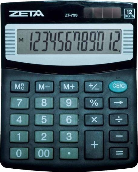 Calculadora Eletronica De Mesa Zeta 12 Digitos Pequena Zt733