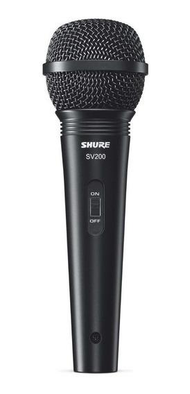 Microfone Shure Sv200 Dinâmico Original Com Cabo