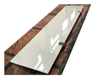 Estante Repisa Vidrio Blanco Coverglas 5mm 50x10 C/soportes