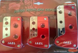 Pedalera Deportiva Color Rojo Iael