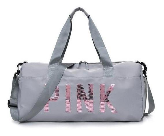 Bolsa Feminina Mala Pink Academia Fitness Transversal Casual