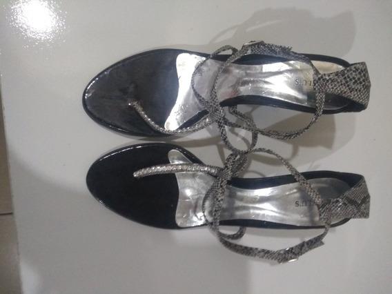 Sandália Muito Linda Salto Um Pouco Alto Promoção Linda Ok,