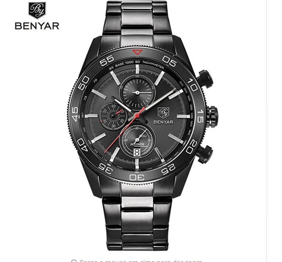 Relogio Benyar Military Edition Sport 2018 By5106m Black