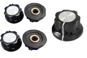 4 Uni Knob Botão Eixo Metálico Potenciometro Mfa01 Frete 10