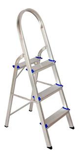 Escada De Alumínio 3 Degraus Com Alça - Real Escadas