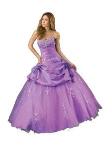 Vestido De 15 Anos Roxo 40 42 44 - Pronta Entrega - Vf00047
