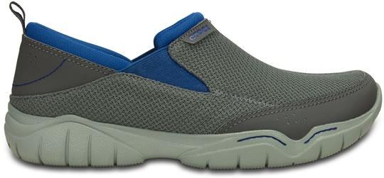 Zapato Crocs Caballero Swiftwater Mesh Moc Gris