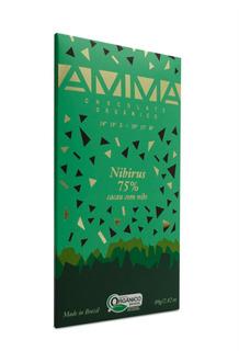 Amma Chocolate Com Nibs De Cacau 75% Orgânico E Vegano - 80g