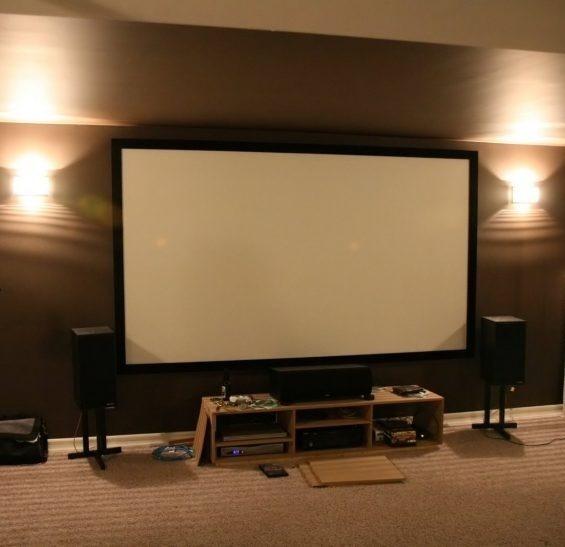 Kit Cinema Em Casa Completo Tela 100 Pl Mais Projetor Hd