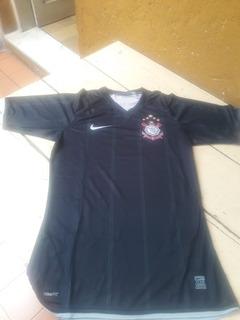 Camisa Do Corinthians Preto/branca