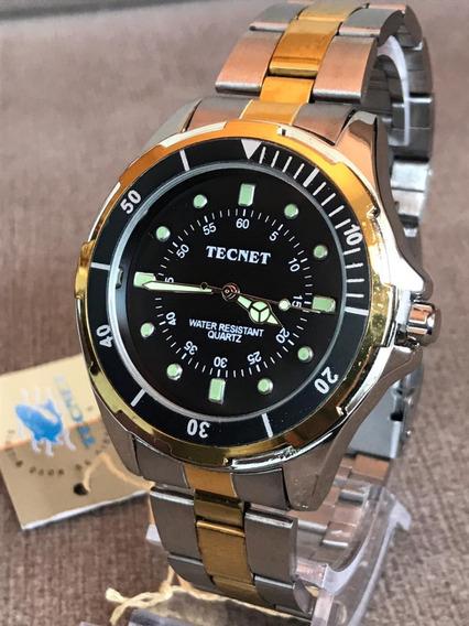 Kit 10x Relógios Original Tecnet Atacado +10 Cx +10 Bateria