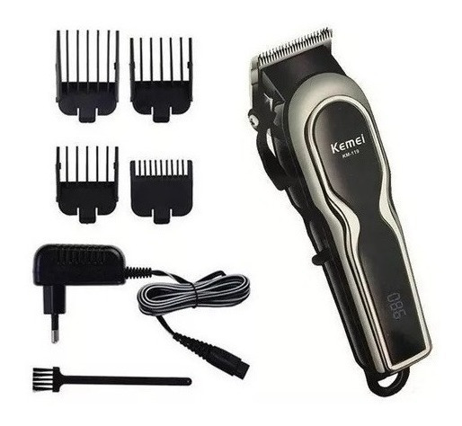 Máquina Cortar Cabelo Barba Eletrico Recarregável Bivolt F