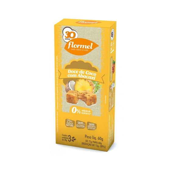 Doce De Coco Com Abacaxi Flormel Zero Açúcar