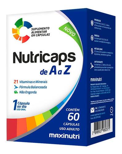Nutricaps Polivitamínico De A Z Com 60 Cápsulas - Maxinutri