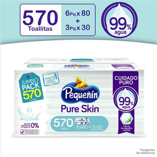 Toallitas Húmedas Pequeñín Pure - Unidad a $96