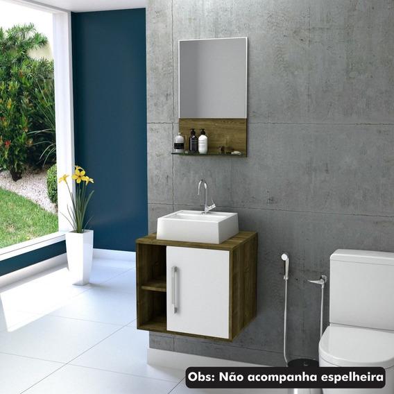 Armário Gabinete P/banheiro Quadratta 50cm C/cuba Q32 #
