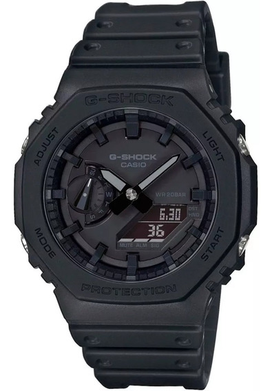 Relogio Casio G-shock Oak All Black Ga-2100-1a1dr + Nfe