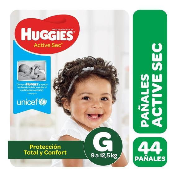 Pañales Huggies Active Sec - Talles M G Xg Xxg