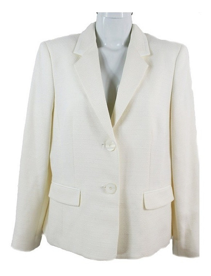 Le Suit Saco Texturizado Hueso 12 Msrp $950