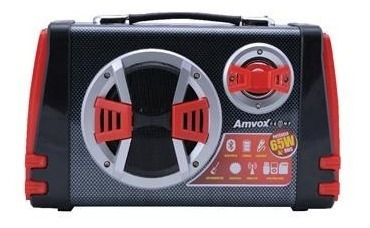 Caixa Amplificada Boombox Portátil Amvox Aca 110 Bluetooth