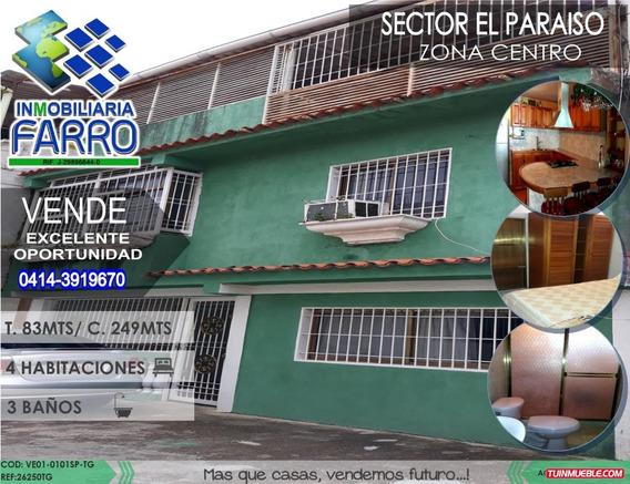 Venta De Casa En El Sector El Paraiso, Centro Ve01-0101sp-tg