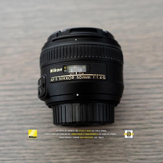 Lente Nikon 50mm F/1.4g Af-s Autofoco - Seminova