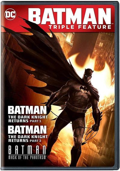 Batman Caballero Noche Regresa 1 Y 2 + Mascara Fantasma Dvd