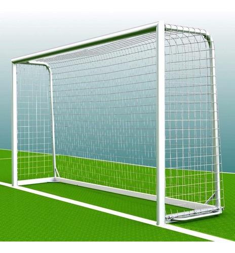 Imagen 1 de 10 de 2 Redes Arco Futbol 5 4x2m Cajon 50cm Soga 2,3mm Cancha Baby - Red Resistente Intemperie Hay Stock