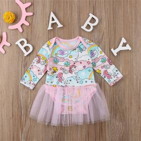Lindo Body Com Tule - Unicórnio - Bebê - Mesversário - Festa